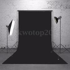 Pure Black Non-woven Wall Photography Backdrops Background Studio Props 3x5FT