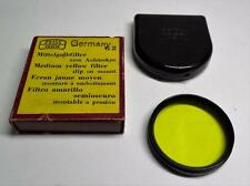 Carl Zeiss Ikon slip on lens Medium Yellow filter G 2 No. 323/2 w/case Germany