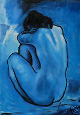 BLUE NuDE * PABLO PICASSO * A3 SiZE  QUALITY CANVAS PRINT