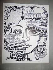Led Zeppelin Rock Pile Reproduction Handbill Flyer High Quality Albert King