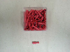 100 Pc ELECTRICAL INSULATED CRIMP RED FEMALE BULLET 12 Volt BATTERY 4x4 HOBBY