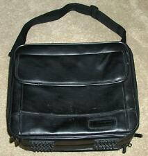 TARGUS DUAL PADDED COMPARTMENT LEATHER CASE ~ PERFECT FOR 2 LT or LAPTOP & CPAP!