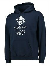 MENS Small TEAM GB Hooded Top Olympics Hoodie Adults Tracksuit Blue London Rio
