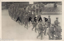 Soldier Group Canadian Contingent ? on route march Aldershot area