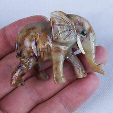 Gemstone Soapstone Elephant Stone Animal Carving Figurines Elephant (Small)