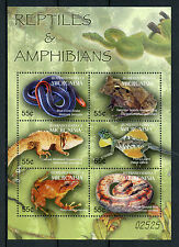 Micronesia 2005 MNH Reptiles & Amphibians Pacific 6v M/S Frogs Snakes Lizards