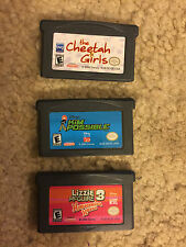 Lot of 3 Gameboy Advance Games GBA- Kim Possible-Cheeta Girls-Lizzie McGuire 3