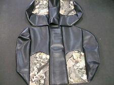 Club Car DS '00+ Hunting Golf Cart Vinyl Deluxe™ Seat Covers-Staple(Blck w/Camo)