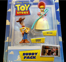 New - BO PEEP & SHERIFF WOODY - Pixar Toy Story BUDDY PACK Cake Toppers 2-Pack