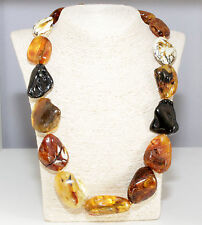 Unique Massive Genuine Baltic Amber Adult Necklace 62.5 cm Luxury Bernsteinkette