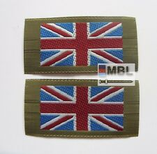 MOD ISSUE UNION JACK SEW ON FLAGS DPM MTP SHIRTS & SMOCKS x2 ARMY RN RAF
