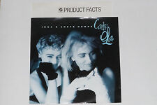 """INGA & ANETE HUMPE -Careless Love- 7"""" 45 mit Product Facts Promo-Flyer"""