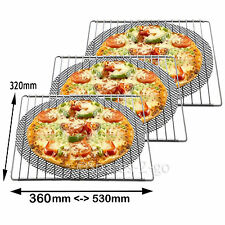 3 x UNIVERSAL Adjustable Extendable Shelves Oven Cooker Shelf + Pizza Mesh