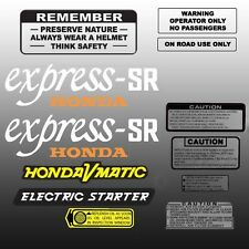 HONDA 1981 NX50M EXPRESS SR KIT WITH WARNING DECALS GRAPHIC LIKE NOS NX50 M