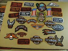 28  STURGIS BLACK HILLS  MOTORCYCLE BIKE WEEK DAYTONA  PATCHES RACING PATCH