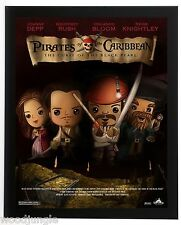 FRAMED PIRATES OF THE CARIBBEAN CURSE OF THE BLACK PEARL  MOVIE POSTER SIGNED