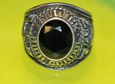 925 Sterling Silver Fenwick High School 1977 CLASS RING Black Stone size 8