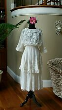 Stunning Antique Edwardian Lace & Broderie Anglaise Lingerie Tea Gown