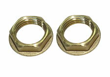 1/2 Inch BSP Brass Flanged Back-Nuts | British Standard Pipe Thread | 2 Pack