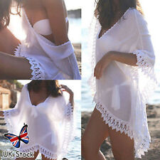 Womens Swimwear Bikini Cover Up Beach Wear Wrap Kaftan Sarong Shirt Dress Tops