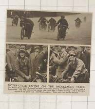 1920 Reopened Motor Track At Brooklyn's Motorcycle Race Mrs Longdon
