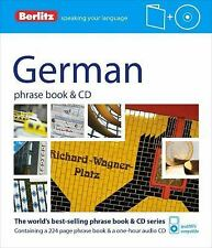 Phrase Book and CD Ser.: German Phrase Book by Berlitz Publishing Staff...