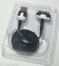 Flat Micro USB Data Charge Sync For Apple iPhone 3G/S 4/4S iPad iPod Touch Nano
