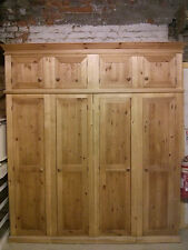 PINE FURNITURE WAREHOUSE CLEARANCE QUAD 4 DOOR WARDROBE+TOPBOX ONE ONLY TO CLEAR