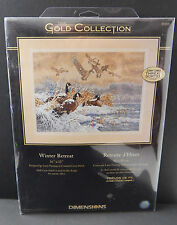 "New 2007 Sealed Dimensions Gold Collection ""Winter Retreat"" 16"" x 16"" Geese"