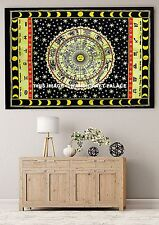 Zodiac Wall Hanging Throw Tapestry hippy celestial Horoscope fabric Ethnic Decor