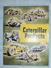 CATERPILLAR PRODUCTS Brochure Vintage Diesel Tractors Engines Dozer  Grader CAT