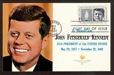 1964 First day of Issue stamp cancel in memoriam President Kennedy postcard