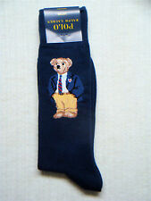 POLO Ralph Lauren - Men's Limited Edition TEDDY BEAR Cotton Socks - NAVY BLUE