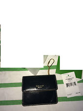 Kate Spade ID holder card case wallet retired black key chain retail $150