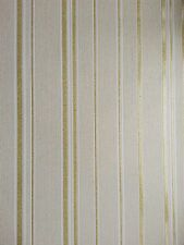 Winchester Stripe Glitter Sparkle Textured Vinyl Wallpaper Beige / Gold FD40663