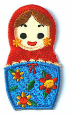 Russian Matryoshka Doll Iron On Embroidered Patch FREE SHIPPING