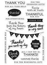 """Brand New Hero Arts  """"Thank You Messages"""" Poly Clear Sentiment Stamps"""