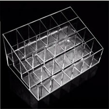 24 Clear Acrylic Display Stand Makeup Lipstick Organizer Cosmetic Holder Sets