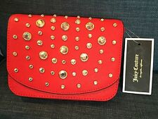 JUICY COUTURE Red Leather Jeweled Sophia Handbag NWT $140