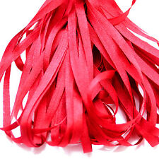 ONE METRE OF SOFT SILK RIBBON, BRIGHT RED COLOUR, 4 MM WIDE