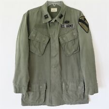 VINTAGE 1968 US ARMY VIETNAM JUNGLE JACKET COMBAT SMALL LONG PATCHE 1st CAVALRY