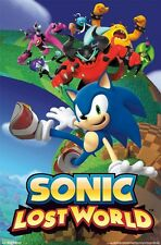 SONIC THE HEDGEHOG ~ LOST WORLD 22x34 VIDEO GAME POSTER Cartoon Sega NEW/ROLLED!