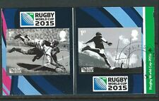 GREAT BRITAIN 2015 RUGBY WORLD CUP SELF ADHESIVE PAIR  FINE USED