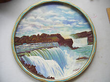 "Vintage Niagra Falls 11"" Metal Tray Good Clean Condition"