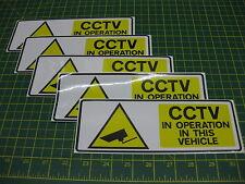 5 grandes CCTV en operación en este vehículo Pegatina 210mmx 76mm