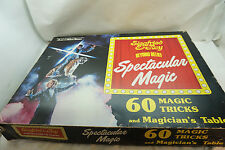 VINTAGE MAGIC TRICK KIT SET SIEGFRIED & ROY MARSHALL BRODIEN 60 TRICKS TABLE BOX