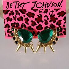 NEW Fashion Betsey Johnson Women Blue Crystal Gem Alloy Charm Earrings BJEA043