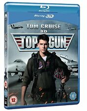 TOP GUN 3D BLU-RAY (TOM CRUISE) NEW SEALED UK REG FREE BLU-RAY