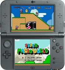 NEW 3DS XL, BLACK * newest model * THE MARIO BUNDLE * 17 GAMES, 3 YEAR WARRANTY
