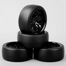BBNK 1/10 RC Speed Drift Racing Car Slick Tires Tyre & Wheel Set For HSP HPI